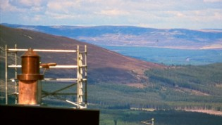 Photo of the GTK camera obscura was built for the University of Dundee, Scotland and installed in Cairngorms National Park mountains north of Edinburgh